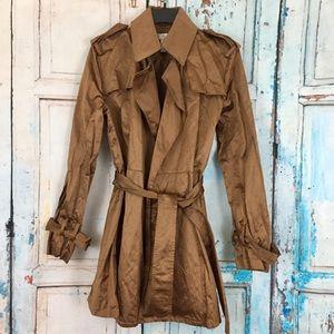 Kenar bronze semi-trench coat